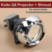 3 Inches Car Styling HID Bi-xenon Projector Lens Koito Q5 + Mini Projector Lens Cover Car Headlight D1S D2S D2H D3S D4S