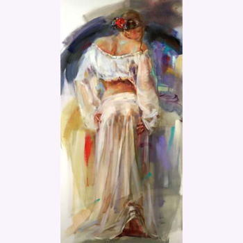 Museum Quality Painter Handmade High Quality Abstract Nude Woman Oil Painting For Dancing Room