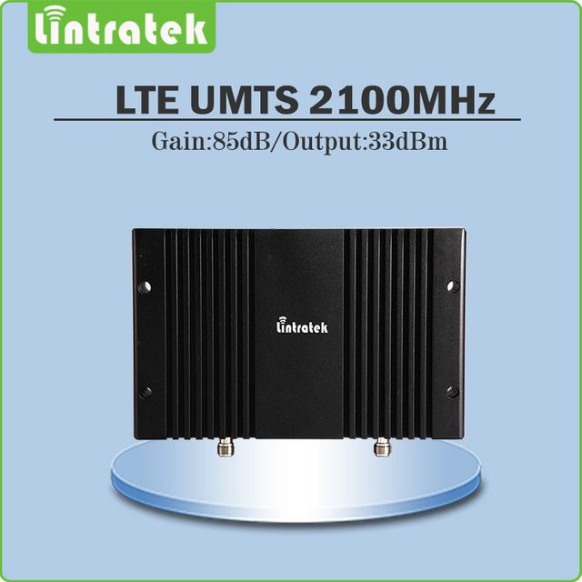 Alto Ganho de 85dB Sinal Ao Ar Livre 3G HSPA UMTS 2100 Móvel impulsionador 3G WCDMA 2100 mhz Repetidor Do Telefone Móvel com visor lcd AGC/MGC