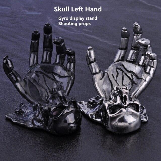 Skull Left Hand Stainless Steel Fidget Spinner Display Stand Fascinating Spinner Display Stands