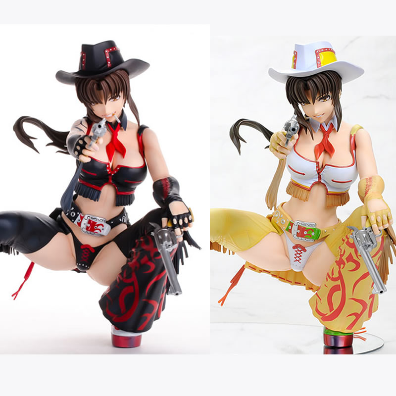 A LABEL Original Japan BLACK LAGOON Louise Halevy PVC Action Figure Cowgirl Suncha Ver 1/4 Sexry Doll Toy for Collection naruto kakashi hatake action figure sharingan ver kakashi doll pvc action figure collectible model toy 30cm kt3510