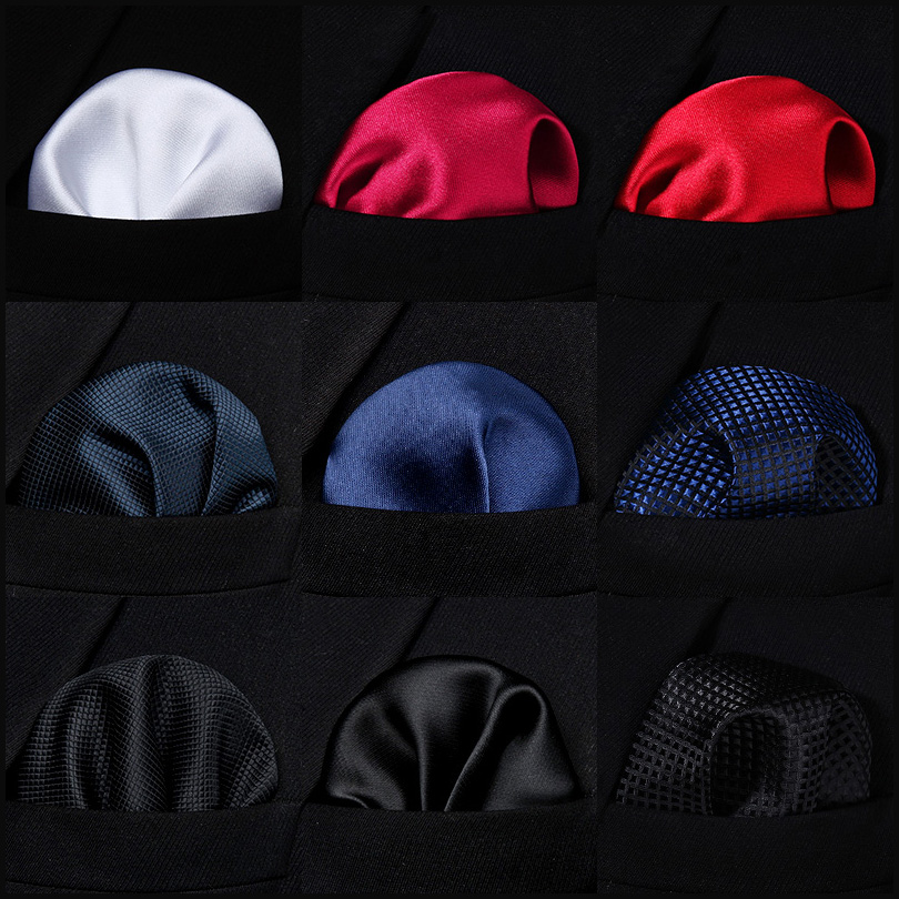 Solid Houndstooth Men Silk Pocket Square Hanky Wedding Party Handkerchief #C5 Pocket Square Classic Party Wedding