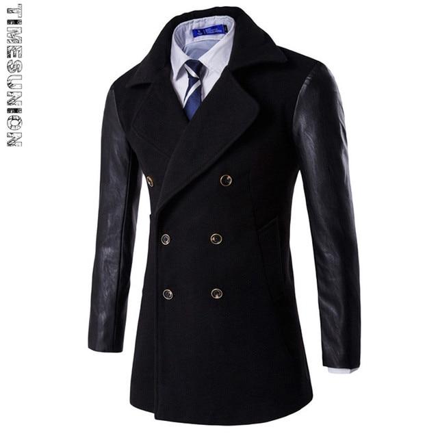 Cheap Mens Trench Coat Fashion Wool Long Men's coat, Winter Trench Coat Men, Gabardinas Para Hombre