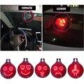 Carro universal gadgets led 3d emoji sinal luzes dedo médio emoji xoxo expressões ícone etiqueta de controle remoto