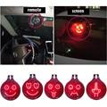 Universal car gadgets 3d led luces de señal dedo medio emoji emoji xoxo expresiones icono etiqueta de control remoto
