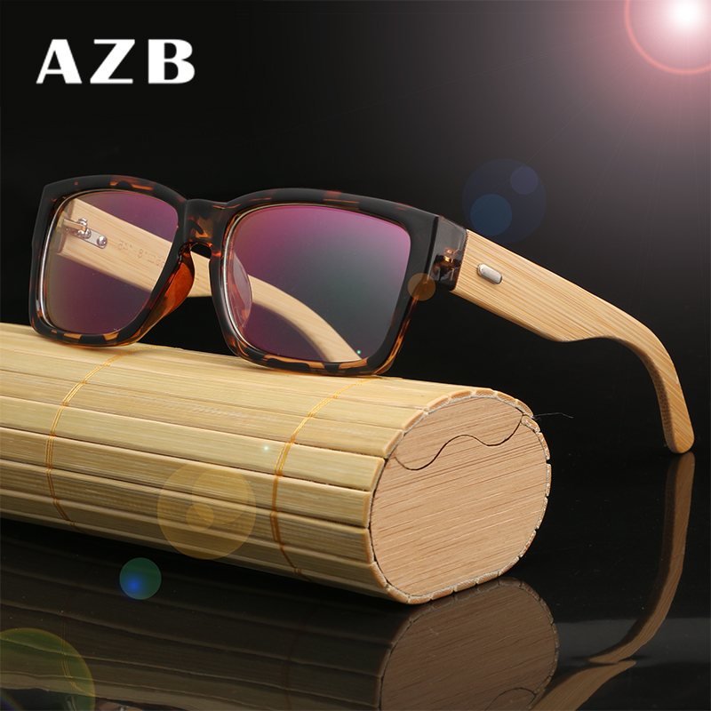 AZB Wooden Eyeglasses Frames Men Bamboo Glasses Frame Optical ...