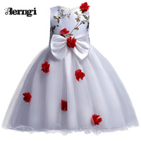 New Arrival Girls Dress 2017 Kids Princess Wedding Party Clothes For 3 12 Years Girls Children