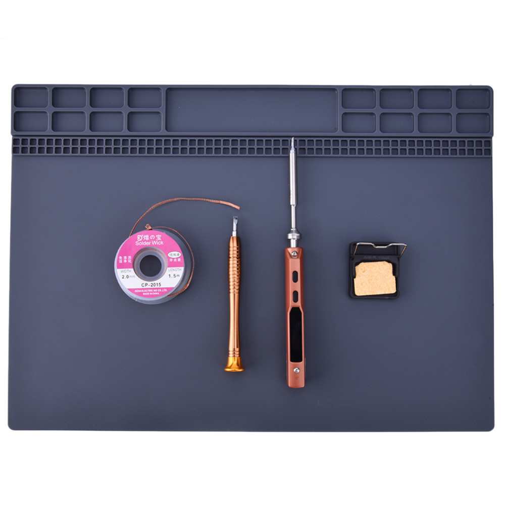 350*250mm 1 stück Wärmedämmung Silikonkissen Schreibtisch Matte Für Elektrische Löten Reparatur Station Instandhaltung Plattform