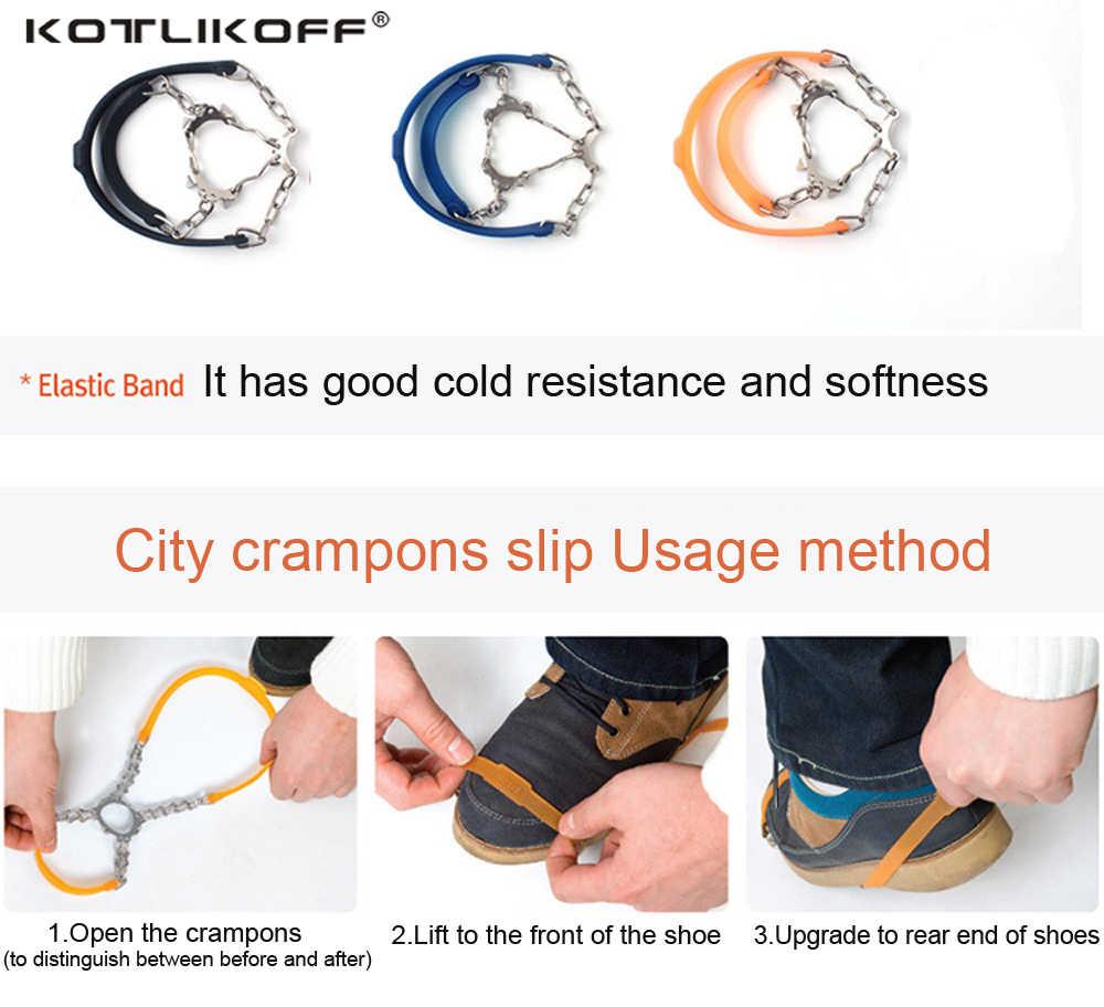 Universal 6 studs anti-skid neve gelo gripper sapatos pico aperto grampos inverno ao ar livre antiderrapante gelo gripper capa crampons