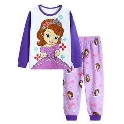 Novas crianças Projeto Dos Desenhos Animados Em Torno Do Pescoço Dos Meninos de Algodão de manga comprida pijamas Pijamas Set Para Crianças Meninas Meninos Pijamas 2 ~ 7 Ano