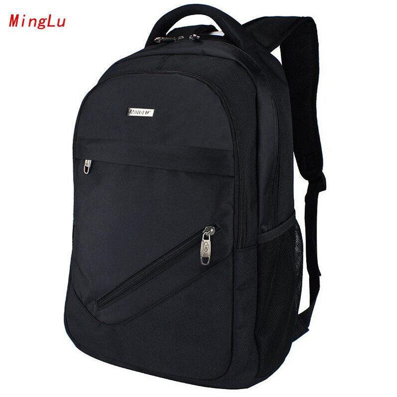 MingLu Preppy Style Teenager Schoolbag High-capacity Laptop Backpack Fashion Backpacks Korean Middle School Student Bag M333 fashion denim backpack preppy style casual shoulders double shoulder bag schoolbag style blue x 59966
