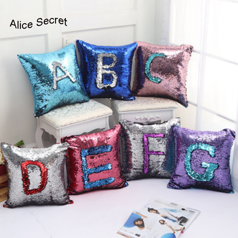 Hot 23 colors New Fashion Beauty Pillow cases Gift Double 40X40CM Glitter Sequins Shiny Throw Pillow Case for Cafe Home Pillows