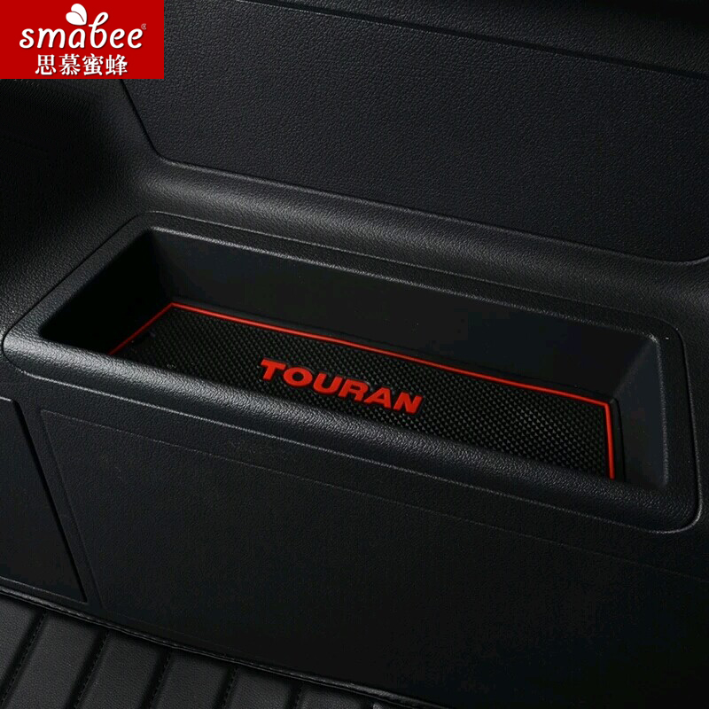 Gate slot mat for Volkswagen Vw Touran 2008-2015 Non-slip mat water tank cover water proof dust proof abs matte gear box cover water cup frame sequins trim for vw volkswagen touran 2016 2017 interior accessories 1pcs