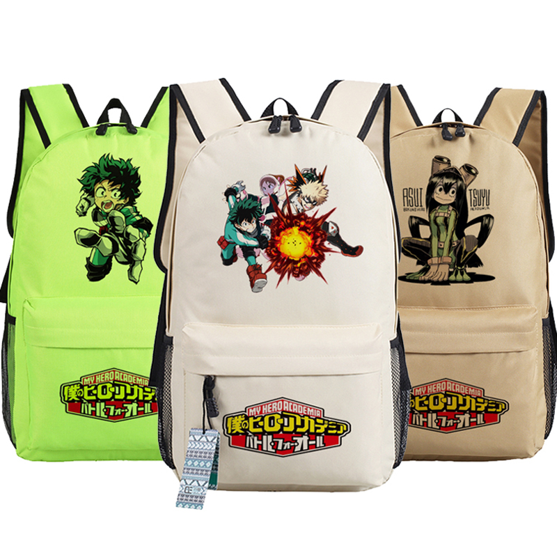 My Hero Academia Boku no hero academia Izuku Midoriya Anime Printing Backpack Student children School Bags Laptop Backpack