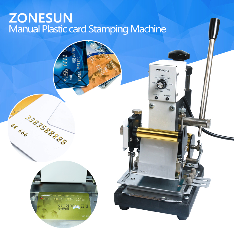 ZONESUN Hot Stamping Machine For PVC Card Member Club Hot Foil Stamping Bronzing Machine zonesun hot foil stamping machine manual bronzing machine for pvc card leather and paper stamping machine