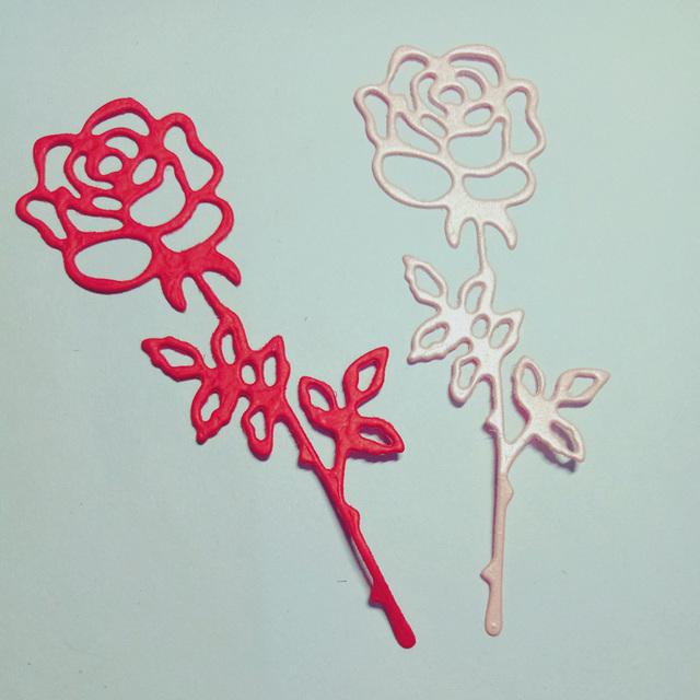 Rose Flowers Mandala Stencil for Embossing