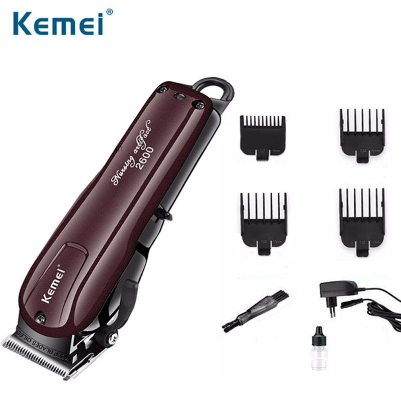 kemei professional rechargeable hair trimmer eletrice hair shaving machine hair clipper for men haircut barber