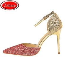 Women Pumps Sexy High Heels New Women Sandals Thin Heels Female Shoes Wedding Shoes Sequins Gradient Color Hollow Ladies Sandals women pumps extrem sexy high heels women shoes thin heels female shoes wedding shoes sequins gradient color hollow ladies shoes