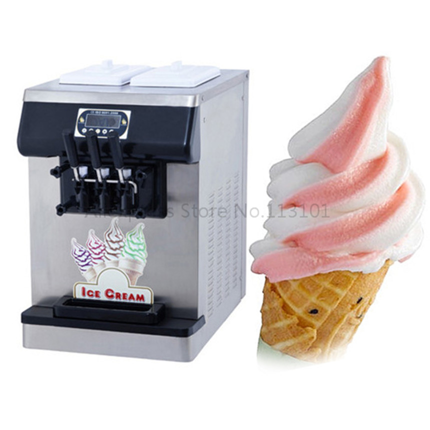 On Countertop Ice Cream Maker : Countertop soft sever ice cream machine, black color stainless steel ...