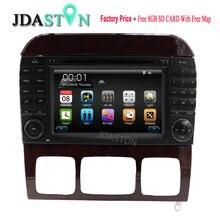 Jdaston 2Din dvd-плеер автомобиля для Mercedes Benz W220 W215 S280 S320 S350 S400 S500 S600 3 г WI-FI GPS навигация RDS Бесплатная Географические карты usb