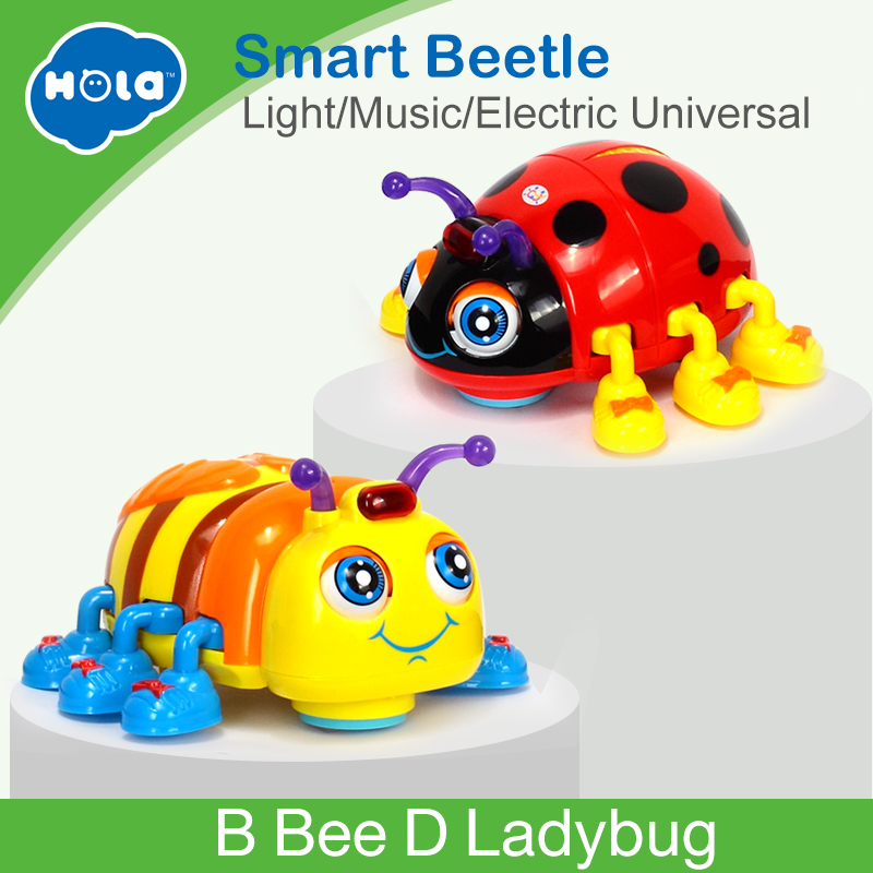 HUILE SPIELZEUG 82721 Baby Spielzeug Infant Kriechen Käfer Elektrische Spielzeug Bee Marienkäfer mit Musik & Licht Lernen Spielzeug für Kinder weihnachten Geschenke