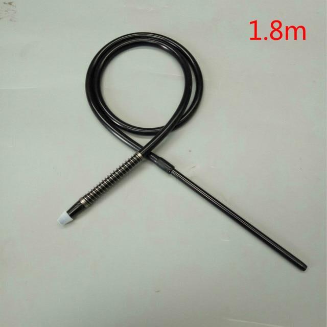 1.8m shisha hookah silicone hose with aluminum mouth piece