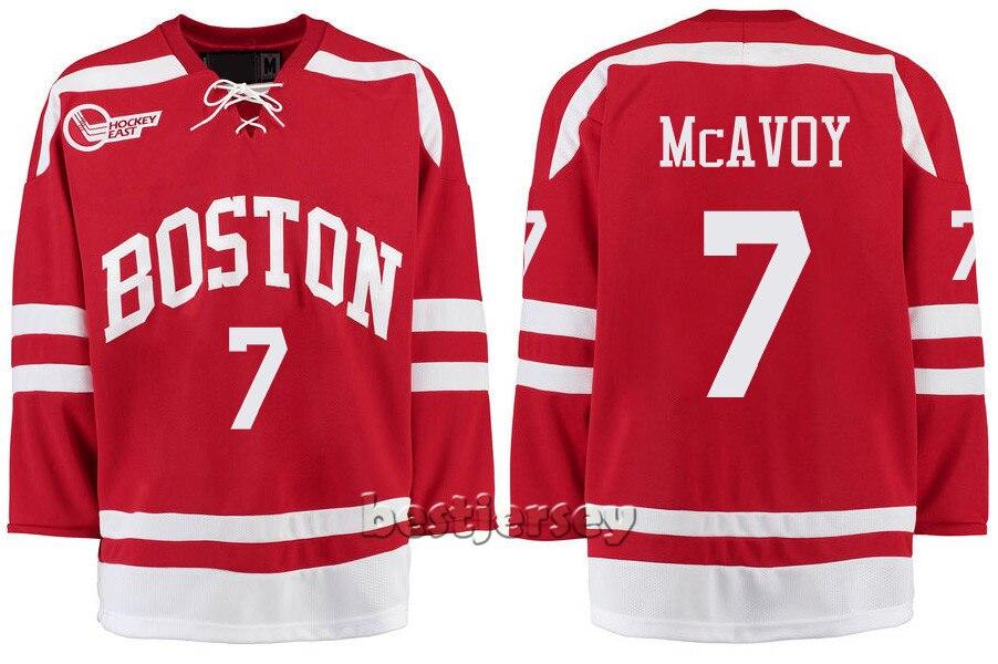 low priced 42479 4b8b6 Kowell Customized Boston University 7 Charlie McAvoy ...