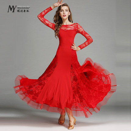 5e8878cc5e3c1 Modern Dress For Ballroom Dancing Jazz/Tango/Waltz Dance Dress Standard Ballroom  Dresses For Sale Dance Net yarn Dress For Girls