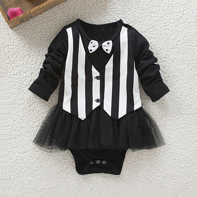 a18901cb833 Infant Baby Rompers Cotton Knitted Baby Girl Clothes toddler brother sister  stripe Tutu Dress rompers Newborn ...
