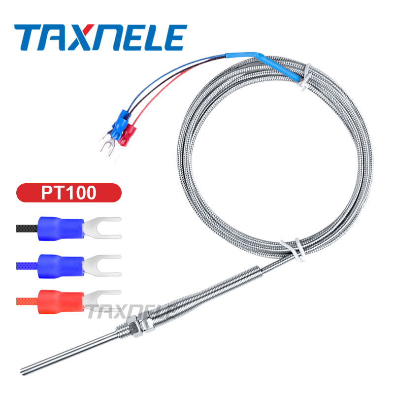 2M Stainless Steel RTD PT100 Temperature Sensor Probe Thermal Thermocouple Tester Detector M8 Thread Industrial Sensor