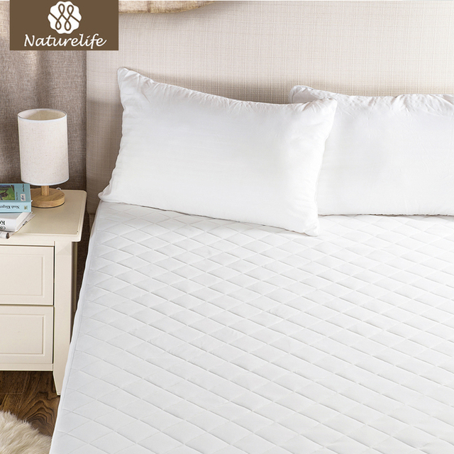 Naturelife Waterproof Mattress Cover Protector For Bed Wetting Ed Bug Breathable Sheet Elastic