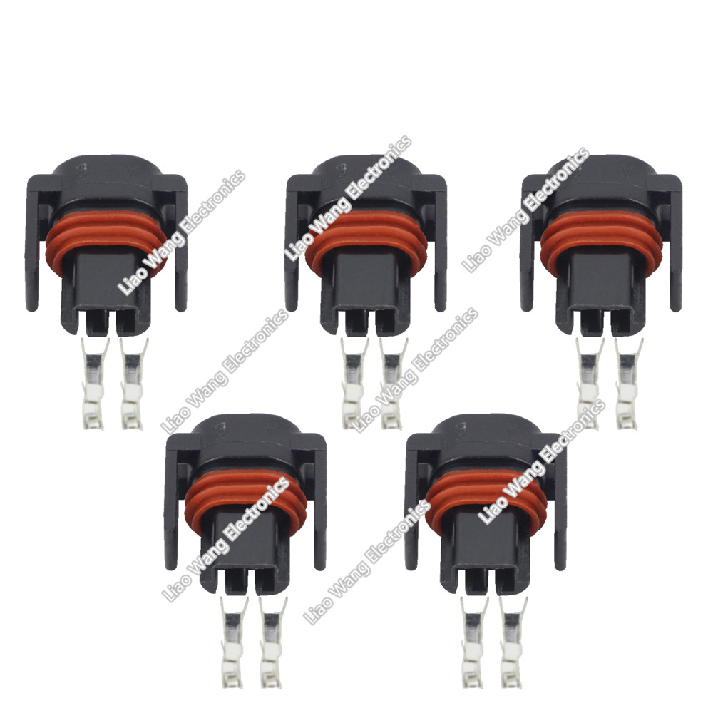 5 Pcs 2pin Automotive Wiring Harness Connector Plug With Wire Tool Terminal Dj7027y 15 21 2p