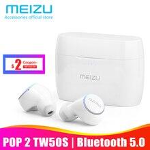 Оригинал Meizu поп TW50 двойной Беспроводной наушники Bluetooth наушники спортивные наушники-вкладыши Водонепроницаемый гарнитура Беспроводной зарядки