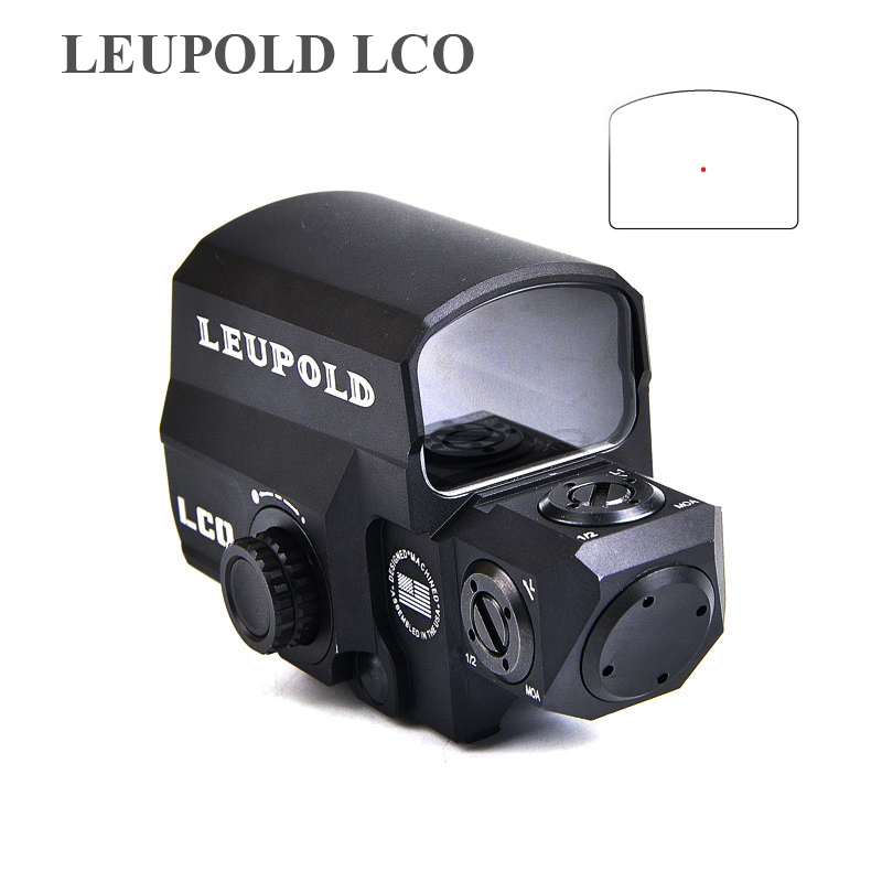 Leupold Lco Upgraded Red Dot Sight Hunting Scopes Holografica Tactical Riflescope Fits Any 20mm Rail Mount Airsoft Gun Scope