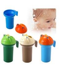 Милая мультяшная детская водная ложка для душа, Детская Бутылочка для купания, детский шампунь, чашка для мытье чашек, моющая насадка, игрушки