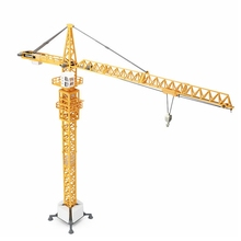 Kids Toys 1:50 Scale Model Car Tower Slewing Crane Diecast Car Model Blaze Car Toy Tower Crane Toys For Children Gifts Alloy Car