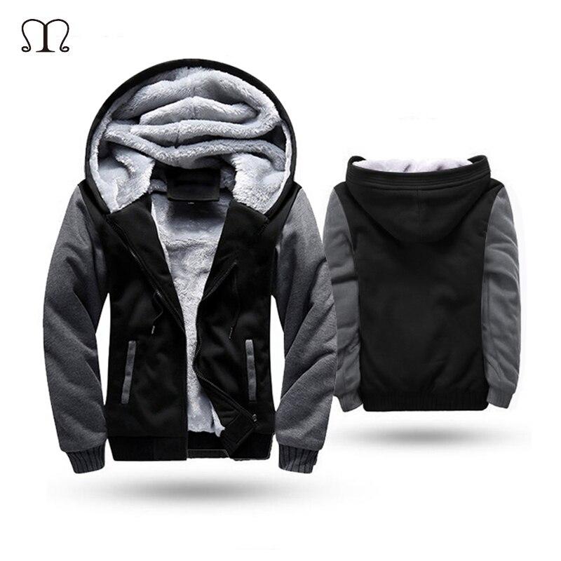 27864b8c392 MANLUODANNI Mens Winter Black Warm Jacket Hooded Outwear Coat W02 ...