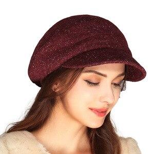 Image 3 - FS Women French Wool Felt Beret Hat Flat Cap Autumn Winter Female Vintage Caps Fedora Chapeu Feminino Boina Mujer Invierno