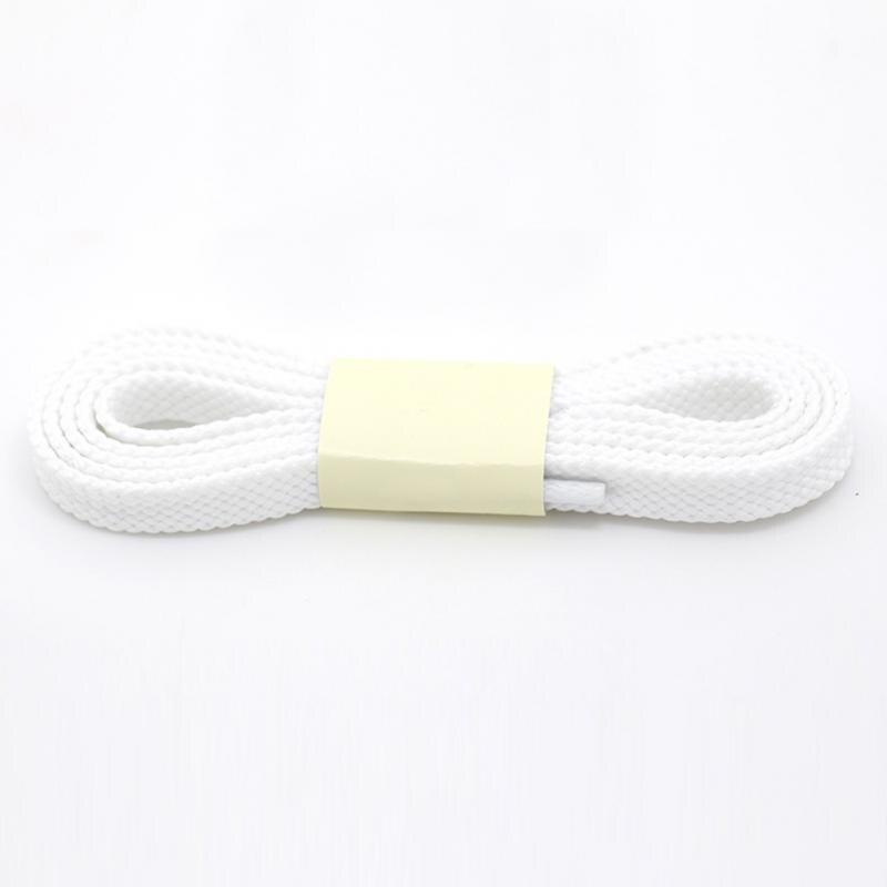 1 Coppia Di 100 Centimetri Poliestere Di Spessore Lacci Delle Scarpe Piatte Sport A Livello Casual Lacci Delle Scarpe Per Scarpe Da Ginnastica Lacet Fuori Dal Nero Bianco Solido Colore #5