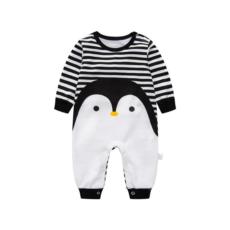 2017 Novelty Baby rompers cartoon Penguin baby boy clothes newborn baby girl clothing , roupas infant  jumpsuit for baby clothes 2017 baby boy clothes long sleeve baby rompers newborn cartoon wolf baby girl clothing jumpsuit infant clothing