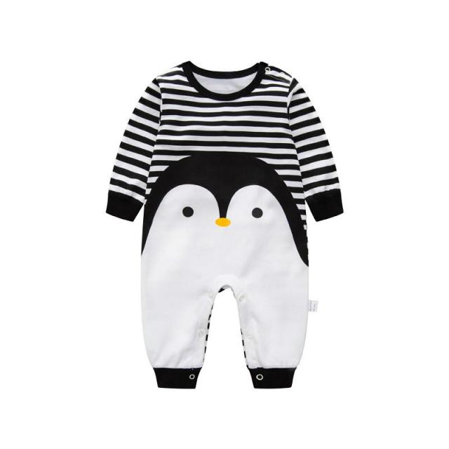4e82dde9230 2018 Novelty Baby rompers cartoon Penguin baby boy clothes newborn baby  girl clothing