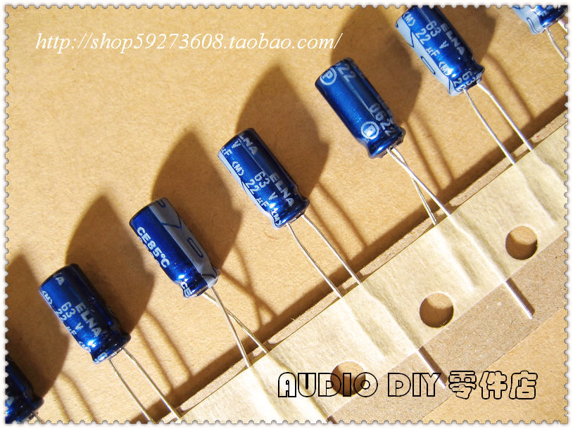 2018 hot sale 30PCS/50PCS ELNA blue robe RE3 series 22uF/63V electrolytic capacitors (with origl box packaging) free shipping|Capacitors|Electronic Components & Supplies - title=