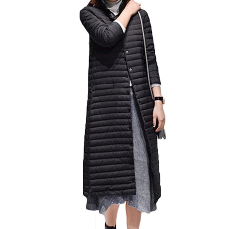 WSYORE Long Parka Slim 2018 New Winter Long Sleeve Down Jacket Thin Winter Women Jacket Duck Down Coat Jacket NS784