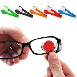 Novo 1 pçs mini microfibra óculos escovas de limpeza macio óculos de sol ferramentas de limpeza limpador de vidro transporte da gota
