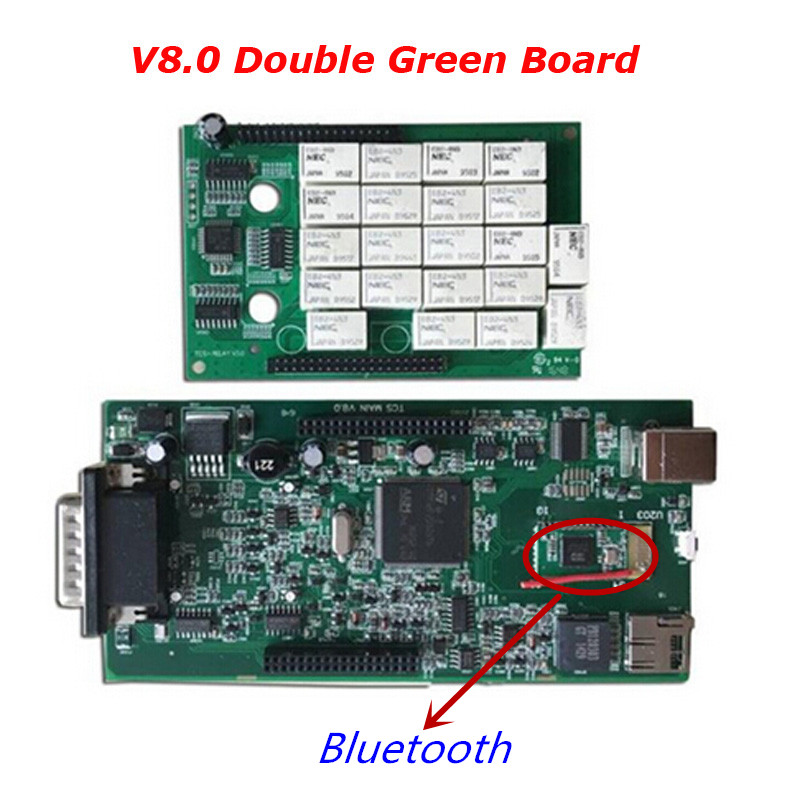 Green PCB Bluetooth TCS SCANNER CDP PRO Plus 2016.00/2015.3 version for CARs+TRUCKs as Multidiag pro A+ Quality 5pcs a lot