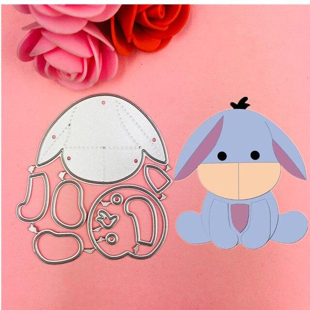 Lindo urso e um cão Corte Morre Stencils para Scrapbooking DIY/álbum de fotos Decorativo Embossing DIY Cartões de Papel