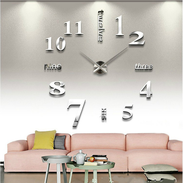 large office clocks. Large Wall Clocks Sticker Quartz Clock Home Decor Living Room Office Decoration DIY 4 Colors R