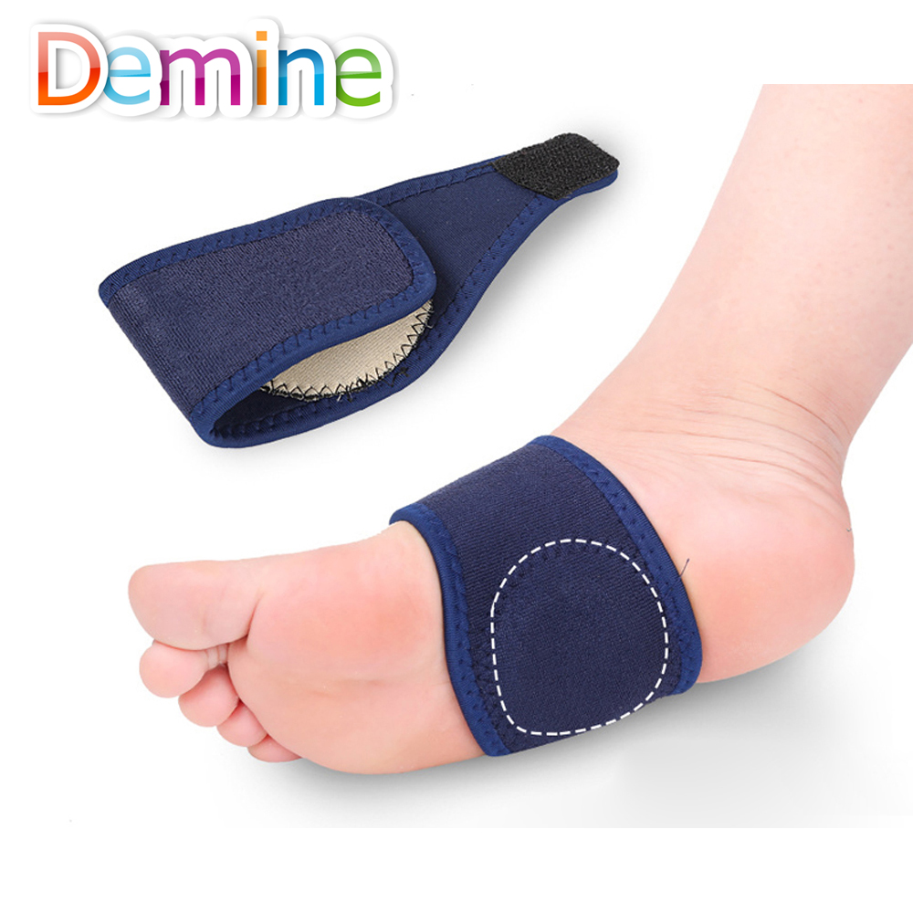 Demine Orthopedic Insoles Elastic Arch Support Bandage Flat Foot Arch Support Pain Relief Running Sport Cushion Pads Insert