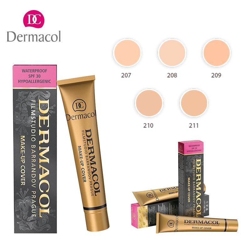 100% Authentic Dermacol Base make up cover Primers Concealer and Make-up Palettes Professional Face care Dermacol cream тональная основа dermacol make up cover 212 цвет 212 variant hex name e8b48f