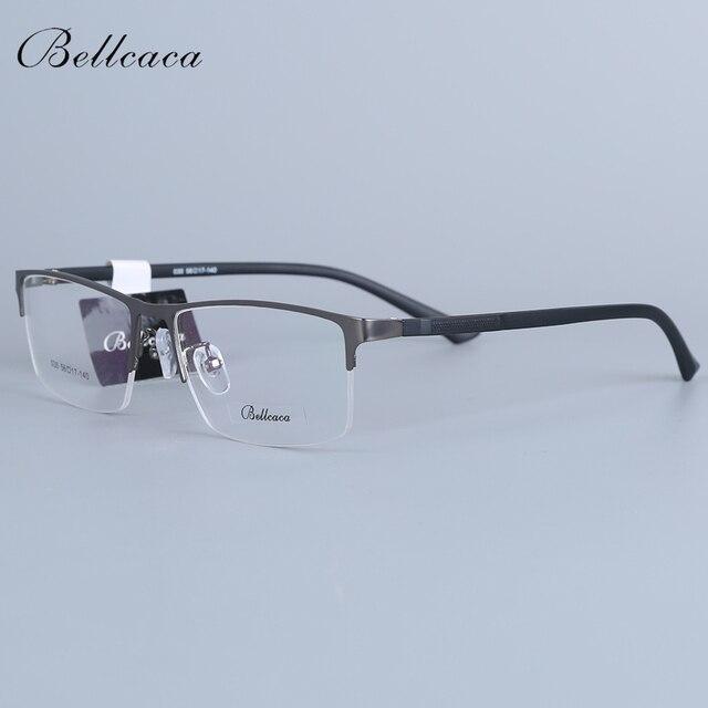 Bellcaca מחזה מסגרת גברים משקפיים מחשב קוצר ראיה אופטי מרשם עין ברור עדשת משקפיים מסגרת עבור זכר Eyewear 030